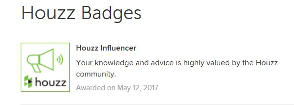 influencer badge from houzz